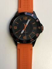 Working Men's Black Tommy Hilfiger Diver Style Watch CR