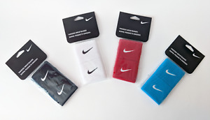 Nike Wristbands/Sweatbands x4 Black, White, Red, Blue (New)