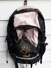 Jack Wolfskin Velocity Hiking Backpack with Rain Cover Pink Black Green Biking
