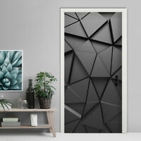 KQ_ 3D Geometric Waterproof PVC Door Wall Sticker Home Living Room Art Sticker D