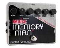 Used Electro-Harmonix EHX Deluxe Memory Man Vibrato Guitar Effect Pedal!