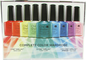 CND SHELLAC 100% GENUINE SHADES FROM COLOR WARDROBE KIT - UNBOXED SALE PRICE
