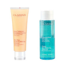 Clarins Gentle Eye Make-Up Remover 125ml + One-Step Exfoliating Cleanser 125ml