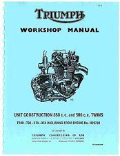New listing Triumph workshop service manual 1963, 1964, 1965 & 1966 Tiger 100 T100C