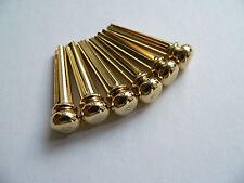 Brass premium bridge pin set for acoustic guitar string pegs pins peg