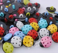 100x New! Ladybug Plastic Buttons Sewing Notions Accessories DIY Crafts NK046