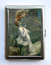 Ophelia Drowning Cigarette Case id case Wallet Business Card Holder Art Nouveau