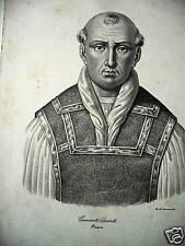 M Papa Clemente V Bertand de Gouth templari lito original