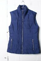 Hobbs Womens Padded Quilted Body Warmer Gilet - Blue - Size 8 - (L-O8)