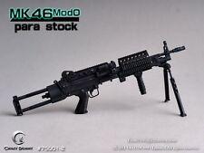 CRAZY DUMMY 1/6 MK46 MOD0 Para Stock - Black for Action Figure #CD-75001-2