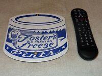 "VINTAGE FOSTER'S FREEZE ICE CREAM PINT 7.5""  PORCELAIN METAL GAS CALIFORNIA SIGN"