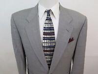 Canali Milano Bloomingdales Mens Wool Gray Italian Blazer Jacket Sport Coat 40 R