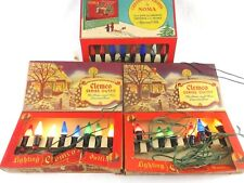 3 Vintage Box Sets of 1940's Noma/Clemco Christmas Tree Lights/Bulbs/Woolworth