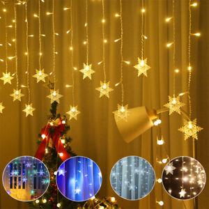 1/2/3/4Pcs LED String Fairy Light Curtain Twinkle Star Window Party Xmas UK Plug