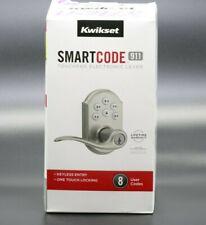 Kwikset SmartCode 911 Touchpad Electronic Lever 99110-008 Satin Nickel New