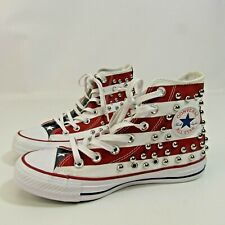 Converse All Star Studded Shoes Women's Size 5.5 NEW USA American Flag Patriotic