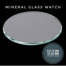 1Mm Thick, Size 16Mm-50Mm, Glass Mineral Flat Watch Glass, Crystal Replacement