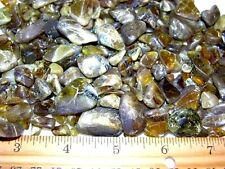 Sphene titanite tumble polished mine rough crystal  1 ounce lot 10-30 pieces
