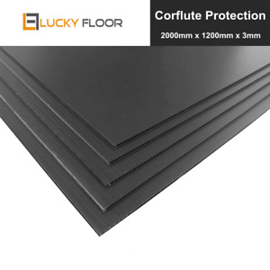 Corflute Protection Board 3mm Black Sheets Floor Surface Protect Water Proof