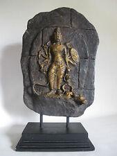 RAR Buddha Skulptur auf Kieferplatte handgeschnitzt Buddhismus 43cm