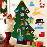 DIY Felt Christmas Tree Set with Ornaments for Kids Xmas Gifts New Year Decor