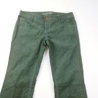 American Eagle Womens Green Corduroy Flare Pants Size 4 New