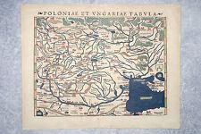 SEBASTIAN MUNSTER. CARTE DE LA POLOGNE ET LA HONGRIE. MAP OF POLAND AND HUNGARY