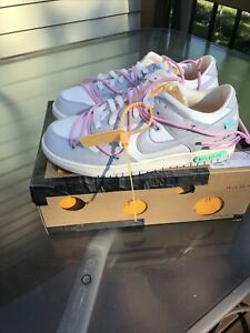 NIKE DUNK LOW X OFF WHITE 'Lot 9 of 50' (DM1602-109) Size 9.5