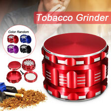 4 Part Hand Crusher Grinder Herb Spice Tobacco Weeds Alloy Smoke Metal 2.5 Inch