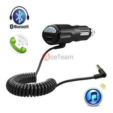 Car USB Charger A2DP 3.5mm Handsfree Bluetooth AUX Stereo Audio Receiver Adapter