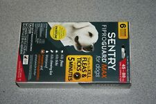 Sentry FiproGuard Max Dogs 45-88lbs 6 Doses Pack Fipro Guard  NEW