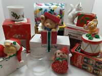 Vintage Christmas Lot 7 Decorative Items 1980s 90s Current House of Lloyd Russ