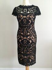 TADASHI SHOJI BLACK LACE COCKTAIL/PARTY DRESS in BLACK - UK 6 /US 0