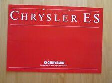 Chrysler ES Prospekt, brochure, cataloque, 5/88