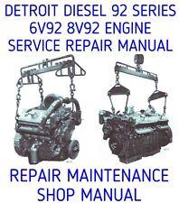 DETROIT DIESEL 92 SERIES 6V-92 8V-92 V92 ENGINE SERVICE REPAIR SHOP MANUAL DVD