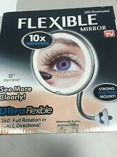 Magnifying Makeup Mirror,10X Vanity Mirror Bathroom flexible mirror - New - AGE
