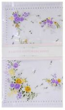 Ladies Floral Design Poly Cotton Value Pack of 8 Hankies Handkerchiefs Gift Xmas