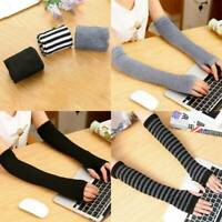 Women Winter Arm Warmers Cashmere Fingerless Long Gloves