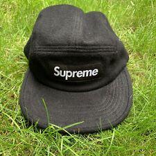 Supreme Loro Piana Wool Box Logo Camp Cap - Black