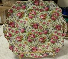 """ROYAL WINTON SUMMERTIME 10-1/2"""" PLATE WITH OPEN HANDLES!!"""