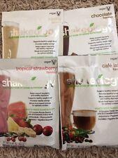 Vegan Shakeology Sampler ONE cafe latte+vanilla+ chocolate+tropical strawberry