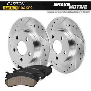 Rear Drill Slot Brake Rotors And Carbon Ceramic Pads For Ford Mercury