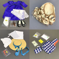 """New Lot 18 Set Hair Outfit Dress Shoe Accessory 18"""" American Girl doll Xmas gift"""