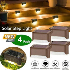 4X Solar Deck Lights Outdoor LED Step Stairs Lighting Garden Fence Lamp Warm AU