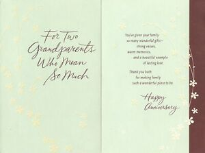 Hallmark Anniversary Card for Grandparents--A Beautiful Example of Lasting Love