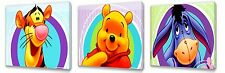 Winnie The Pooh II set of Three Wall / Plaques canvas pictures