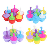 7Hole Silicone Frozen Ice Cream Mold Frozen Yogurt Popsicle Maker Lolly Mould