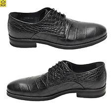 Muga Herren Schuhe Kroko Optik Gr.40 Schwarz