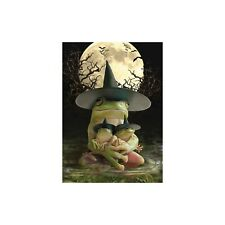 Frog Witch Halloween Greeting Card & Envelope by Tree Free