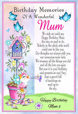 LARGE MUM BIRTHDAY MEMORIAL BEREAVEMENT GRAVESIDE  CARD & FREE HOLDER 3